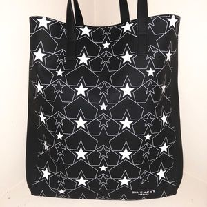 Gently used: Black Givenchy Parfums tote bag.